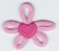 """2.25"""" Pink Shoe Lace Flower patch applique"""