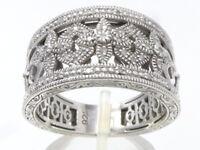 Silberring Ring 925 SILBER Sterling Silver Brillanten Diamanten Art Deco argent