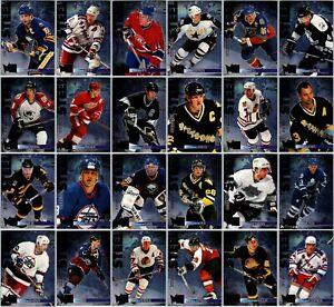 1995-96 FLEER METAL INTERNATIONAL STEEL INSERT CARDS - PICK SINGLES - FINISH SET