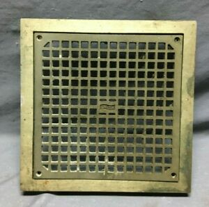 "Antique Brass SMITH Industrial Shop 13"" SQ Bathroom Floor Roof Drain VTG 834-21B"