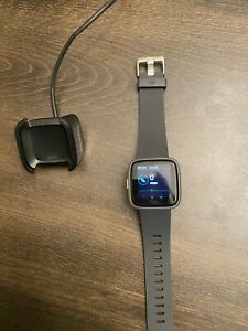 Fitbit Versa Lite Edition Activity Tracker - Charcoal/Silver Aluminum