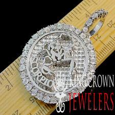 Genuine Diamond Scorpio Zodiac Sign Pendant Pave Charm 10K White Gold Finish 2''