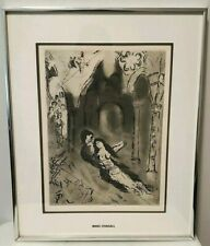 "Marc Chagall Original Etching of The Marriage, COA, 10 x 14"" in 19 x 15.5 Frame"