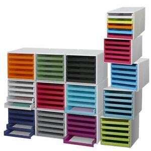 Schubladenbox 5 Schübe Ablagebox Briefablage Ablage - 2. Wahl / B-Ware