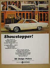 1965 Dodge Polara Coupe white car photo vintage print Ad