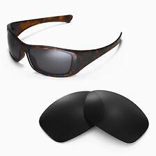 New Walleva Black Replacement Lenses For Oakley Hijinx Sunglasses
