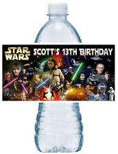 20 ~ STAR WARS BIRTHDAY PARTY FAVORS WATER BOTTLE LABELS