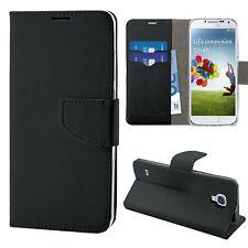 HQ Lateral Flip Libro Cover Custodia Magnetica per Samsung Galaxy S4 I9500 Nero