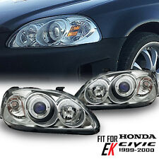 Honda 96-98 Civic 2/3/4Dr LED Black Projector Headlight Lamp Clear Len 4Door