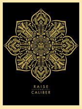 Shepard Fairey RAISE THE CALIBER 2015 print poster guns flower ornament weapons