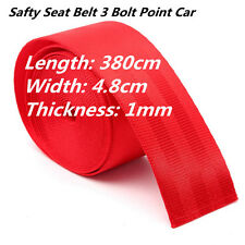 RED Universal Racing Front 3 Point Safety Retractable Van Car Seat Lap Belt