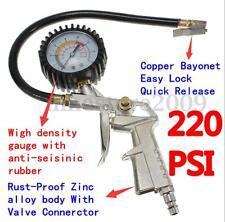 Air Compressor Tire Inflator Pressure METER Dial Gauge Teste TOOL Car 220 PSI