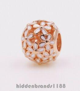Authentic Pandora Rose  Darling Daisy White Enamel 780004EN12 Charm Bead  #ui