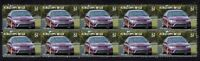FORD FPV FALCON BF GT STRIP OF 10 MINT VIGNETTE STAMPS, PURPLE
