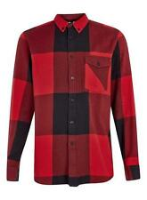 Topman Cotton Check Regular Fit Casual Shirts & Tops for Men