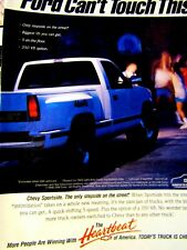 """1991 Chevrolet Sportside PU """"Ford Can't Touch This""""Original Print Ad-8.5 x 11"""""""