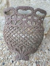 Antique Estate Architectural Salvage Cast Iron Gate or Grate or Door Ornament