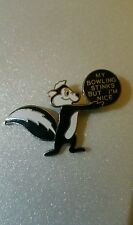 Pepe Le Pew Skunk Enamel RARE My Bowling Stinks, but I'm Nice  Pin