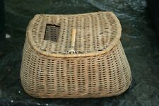 Antique Fishing Creel Fly Fisherman'S Wicker Basket Vintage