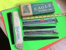 Vintage orginal Eagle barber combs with box