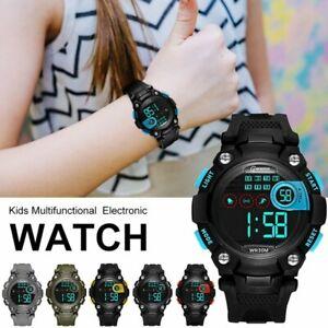Digital Kinder Sport Uhr LED Armbanduhr Lernuhr Sport Watch für Mädchen Jungen
