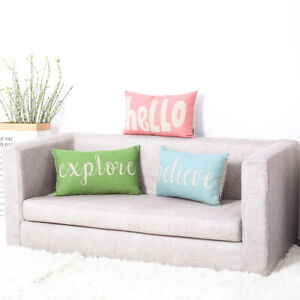 Fashion Sentiment World Letter Throw Cushion Case Pillow Covers 20x12 Inch Conch