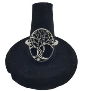 Tree Of Life Ring 316L Stainless Steel Silver Celtic Pagan Protection Vintage