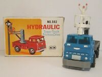 Vintage NN Toys No.502 Ford Hydraulic Tower Truck with Friction Drive Working