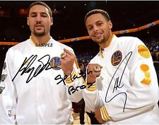 KLAY THOMPSON STEPHEN CURRY #3 REPRINT SIGNED 8X10 PHOTO GOLDEN STATE WARRIORS