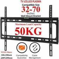 TV Wall Bracket Mount Slim Fixed For 32 40 42 50 55 60 65 70 Inch Plasma LED LCD