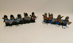 LEGO Black Falcon Knights and Lion/Axe Crusader Knights minifigures Castle theme