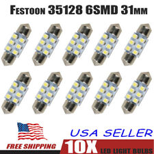 10X Interior LED Light Car Dome Door Footwell License Plate Bulbs White 6SMD