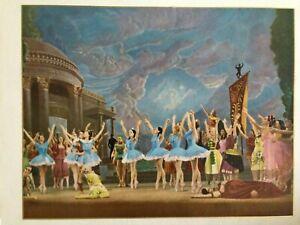 """Lovely Vintage Carlotta Edwards? """"Sylvia Ballet""""  Print - White & Gold Frame"""