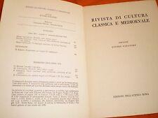 rivista di cultura classica e medievale  3,72