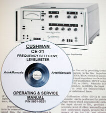 Cushman Ce 21 Frequency Selective Levelmeter Operating Amp Service Manual