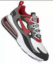 Nike Air Max 270 React UK 9 Black White Iron Grey University Red CI3866-002