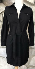BROOKS BROTHERS Women's 4 Petite Sz 4P Black Utility Button Shirt Dress Pockets