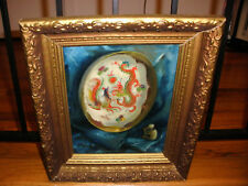 Zsuzsanna Suger (Hungarian 1939) painting Chinese still life dragon plate monkey
