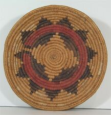 ca1920s Native American Navajo Indian Decorated Coil Basket / Wedding Basket
