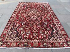 Vintage Hand Made Traditional Oriental Wool Red Blue Large Rug Carpet 306x199cm