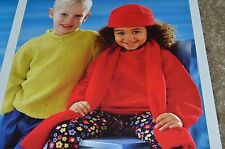 """Peter Pan Knitting Pattern p920 Samt Touch Pullover 18-26"""""""