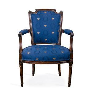 Louis XVI Walnut Armchair, 18th Century