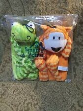DOG TOY SET PLUSH FROG AND TIGER