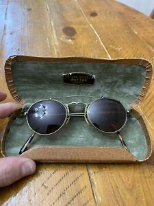 Vintage Oliver Peoples OP-7 AG Glasses & Sunglasses Clip Ons - Antique Brass