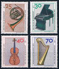 782-785 ** BRD 1973, Wohlfahrt. Musikinstrumente
