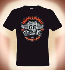 Biker T-Shirt, Harley & Route66, America's Highway, Größen: S bis XXXL