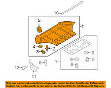 AUDI OEM A8 Quattro Splash Shield-FR Under Radiator/Engine Cover 4E0825235Q