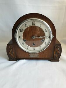 Antique 1930's Haller Art Deco Mantel Clock with Westminster & Whittington Chime