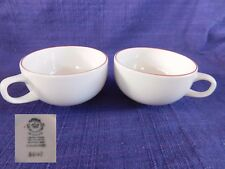 """Royal Copenhagen Red Line 1-7/8"""" CUP (2) SET of TWO #3042 have more items"""