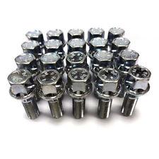 20 X 14x1.50 28mm Largo Tornillos 17mm Hex Perno de Aleación para Rueda Plata